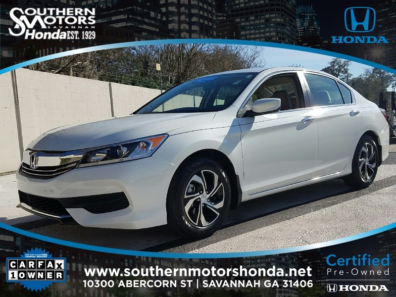 Pre owned 2017 honda accord lx 4dr car in savannah Southern motors used cars