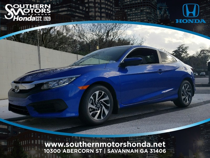 New 2017 Honda Civic Lx P Cvt Coupe In Savannah H13603